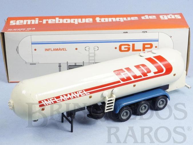 Brinquedo antigo Semi Reboque Tanque de Gás GLP