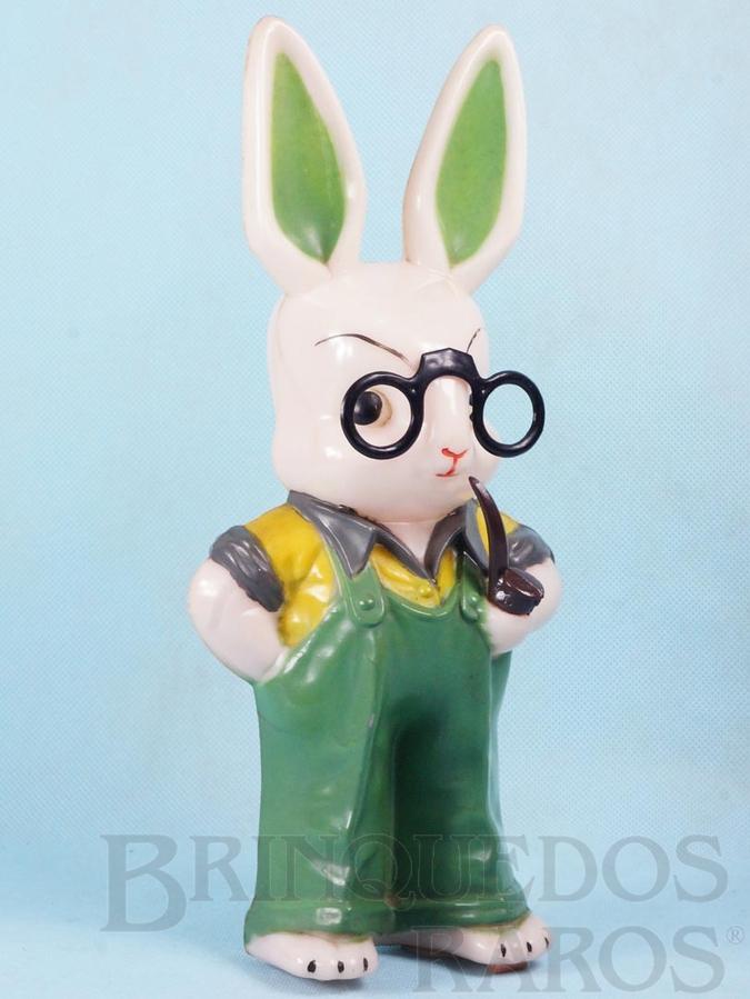 Brinquedo antigo Senhor Coelho com 29,00 cm de altura Década de 1960