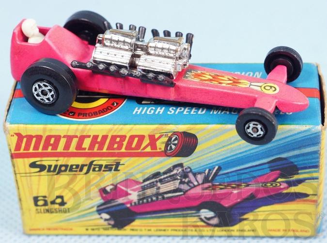 Brinquedo antigo Slingshot Dragster Superfast vermelho
