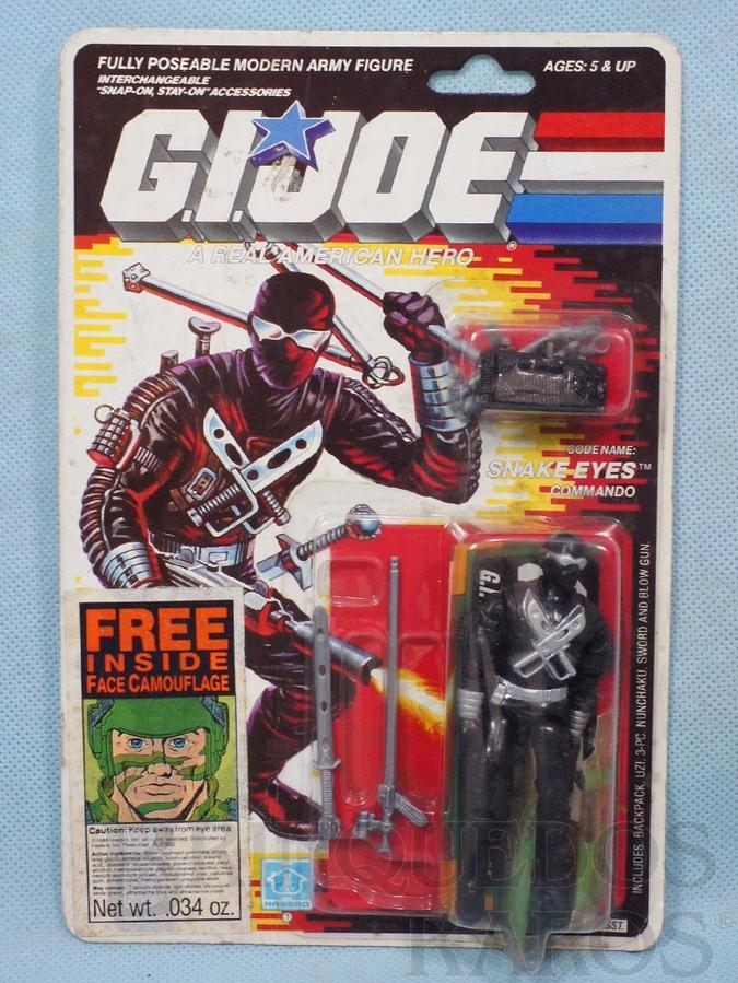 Brinquedo antigo Snake Eyes completo Blister lacrado Ano 1988