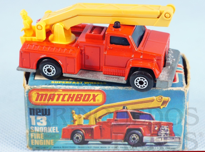Brinquedo antigo Snorkel Fire Engine Superfast