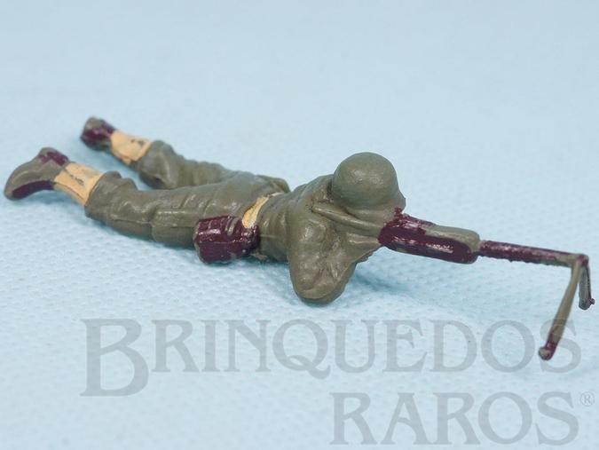 Brinquedo antigo Soldado com metralhadora Uniforme Americano da Segunda Guerra Mundial Década de 1970 RESERVED***RA***