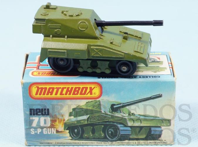 Brinquedo antigo SP Gun Rola-Matics esteira preta