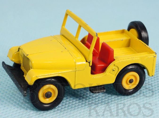 Brinquedo antigo Standard Jeep Black plastic tires