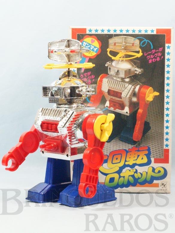 Brinquedo antigo Super Revolution Robot com 24,00 cm de altura Década de 1980