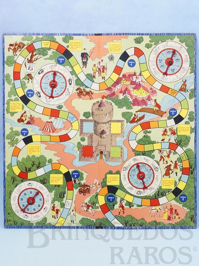 Brinquedo antigo Tabuleiro do Jogo As Aventuras de Robin Hood Ano 1962