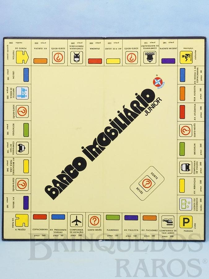Brinquedo antigo Tabuleiro do Jogo Banco Imobiliário Junior Ano 1980