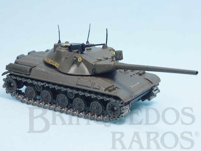 Brinquedo antigo Tanque de Guerra Char Blinde AMX 30T Datado 1-1965