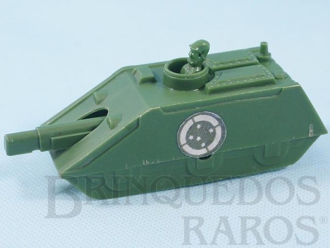 Brinquedo antigo Tanque de Guerra do Exército Brasileiro com 12,00 cm de comprimento Década de 1970