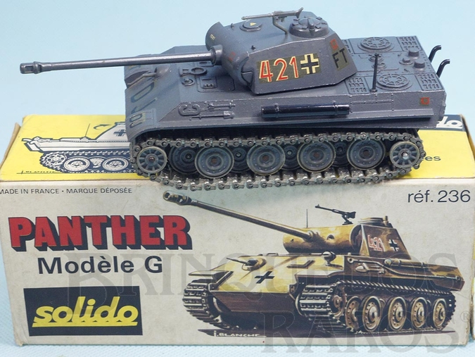 Brinquedo antigo Tanque de Guerra Panther G Datado 11-1973