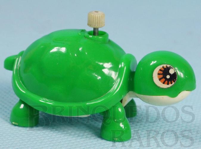 Brinquedo antigo Tartaruga com 6,00 cm de comprimento Década de 1980