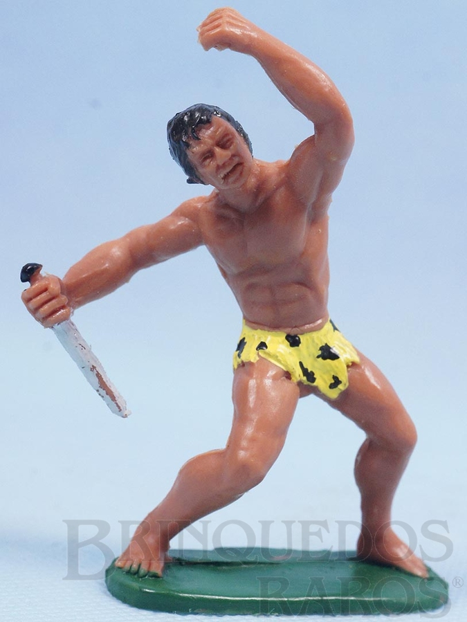 Brinquedo antigo Tarzan de plástico pintado Década de 1970