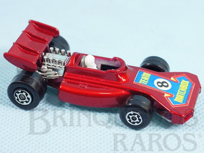 Brinquedo antigo Team Matchbox Superfast vermelho metálico