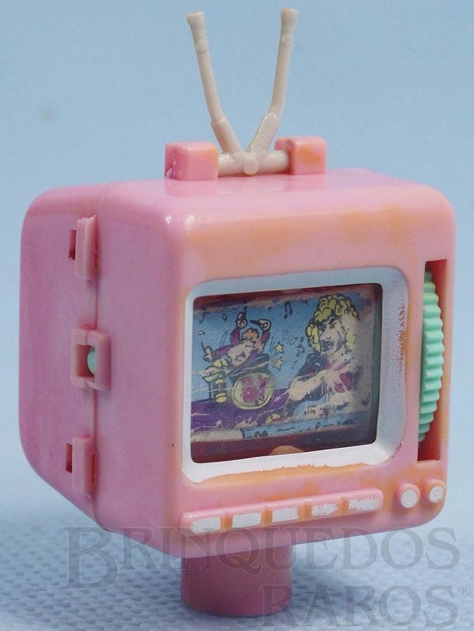 Brinquedo antigo Televisão para colocar no lápis com 3,5 cm de altura Década de 1980