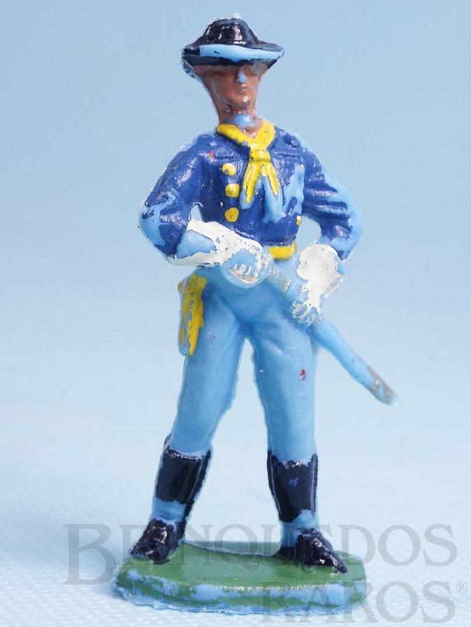 Brinquedo antigo Tenente Rip Masters da Sétima Cavalaria desembainhando o sabre