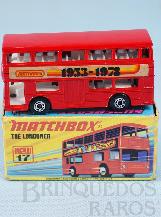 Brinquedo antigo The Londoner Superfast Matchbox 1953-1978