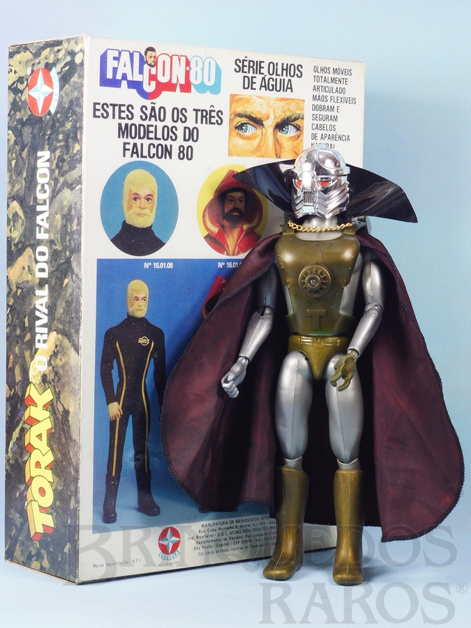 Brinquedo antigo Torak o Rival do Falcon perfeito estado todo original Capa roxa Acompanha Réplica da Caixa Original edição 1982
