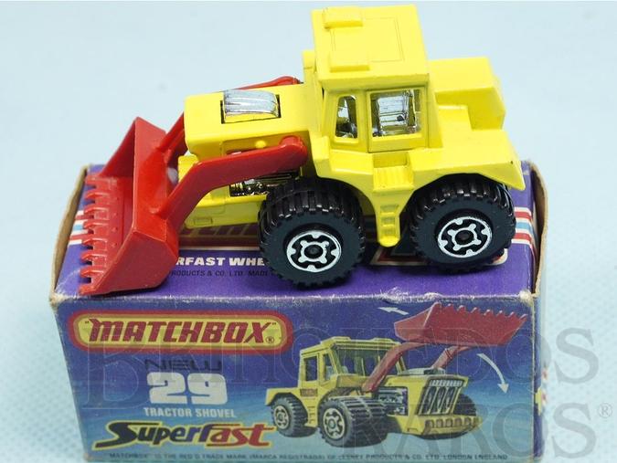 Brinquedo antigo Tractor Shovel Superfast motor cromado