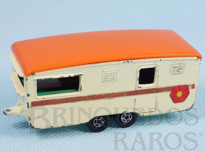 Brinquedo antigo Trailer Eccles Caravan Superfast Transitional Weels