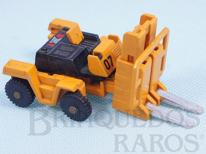 Brinquedo antigo Transformer Empilhadeira Convert com 6,00 cm de comprimento Década de 1980 RESERVED***JS***