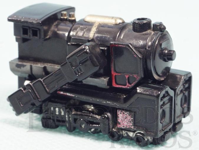 Brinquedo antigo Transformer Locomotiva Convert com 5,00 cm de comprimento Década de 1980