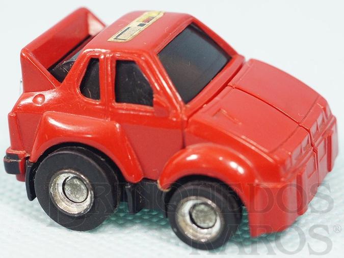 Brinquedo antigo Transformers Cliffjumper Robocar Porsche Vermelho com 5,00 cm de comprimento Primeira Série Ano 1985