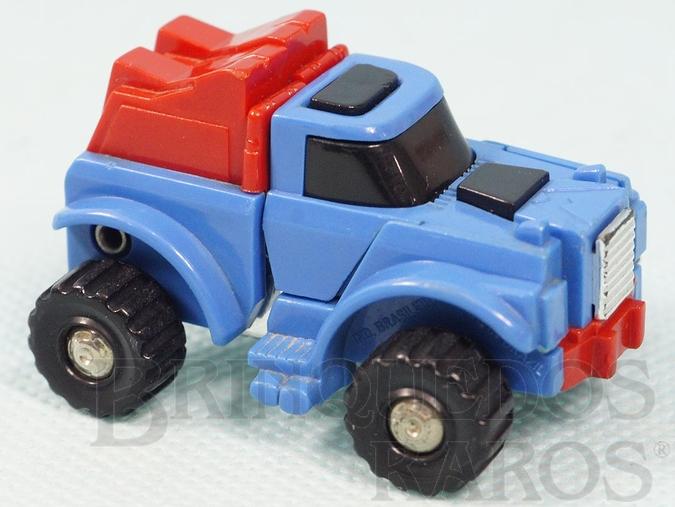 Brinquedo antigo Transformers Pickup Gears Robocar Azul com 6,00 cm de comprimento Primeira Série Ano 1985