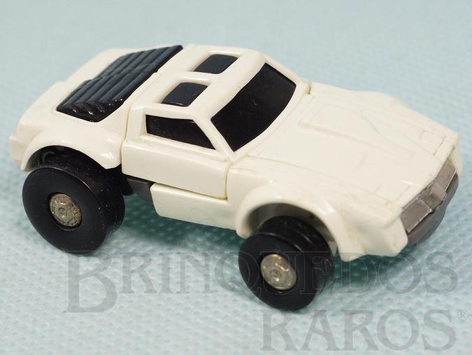 Brinquedo antigo Transformers Windcharger Robocar Camaro branco com 6,00 cm de comprimento Primeira Série Ano 1985