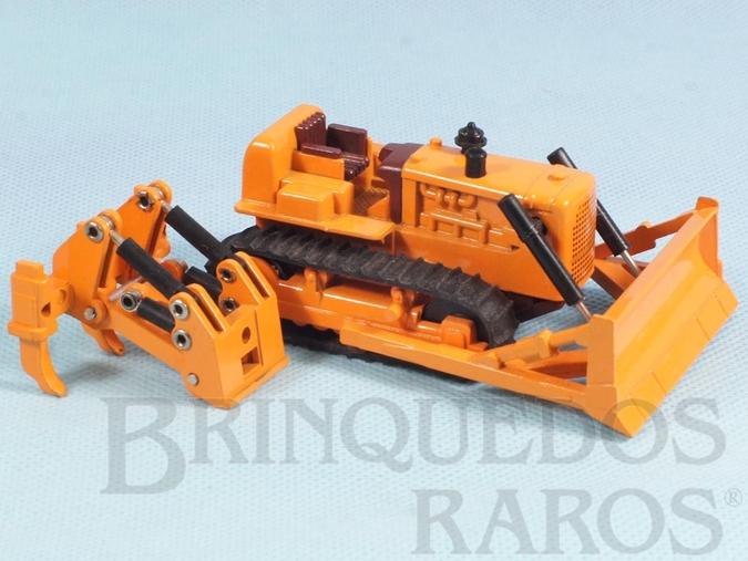 Brinquedo antigo Trator de Esteiras com 12,00 cm de comprimento Série Mini Power Década de 1980