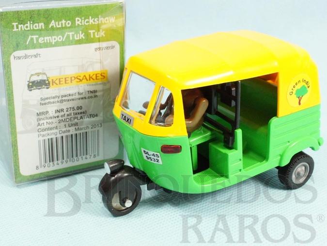 Brinquedo antigo Triciclo Taxi Indiano Indian Auto Rickshaw Década de 2000