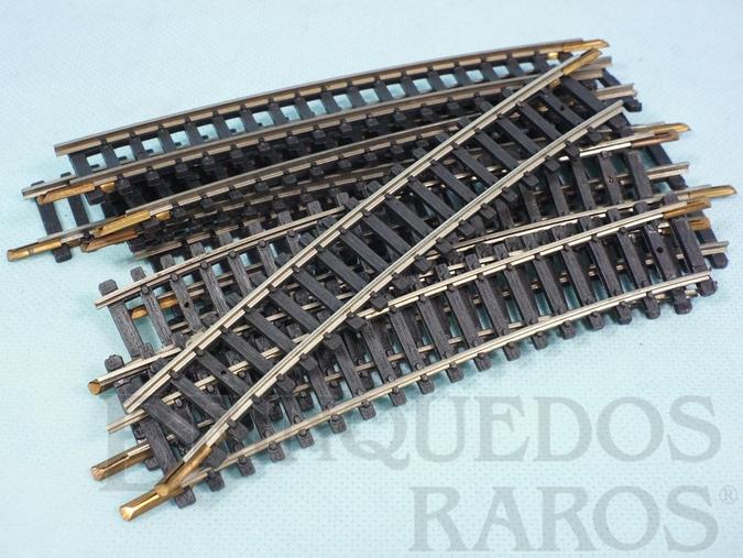 Brinquedo antigo Trilho curvo paralelo 0214 com 148,00 mm de comprimento Década de 1970 Preço por 10 unidades