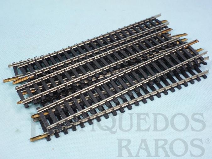 Brinquedo antigo Trilho reto 0206 com 165,00 mm de comprimento Década de 1970 Preço por 10 unidades