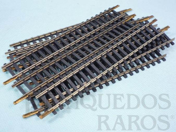 Brinquedo antigo Trilho reto de ajuste 0205 com 16,00 cm de comprimento Década de 1970 Preço por 10 unidades