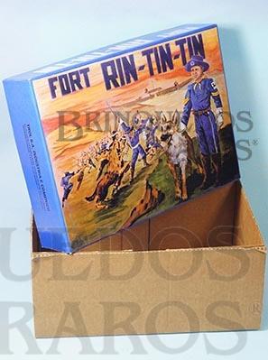 Brinquedo antigo Trol Caixa Forte Rin Tin Tin Década de 1970