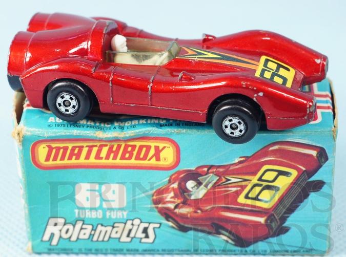 Brinquedo antigo Turbo Fury Rola-Matics