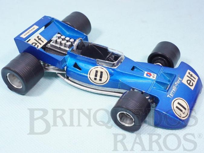 Brinquedo antigo Tyrrell Ford Formula 1 piloto Jackie Stewart Politoys Ano 1973