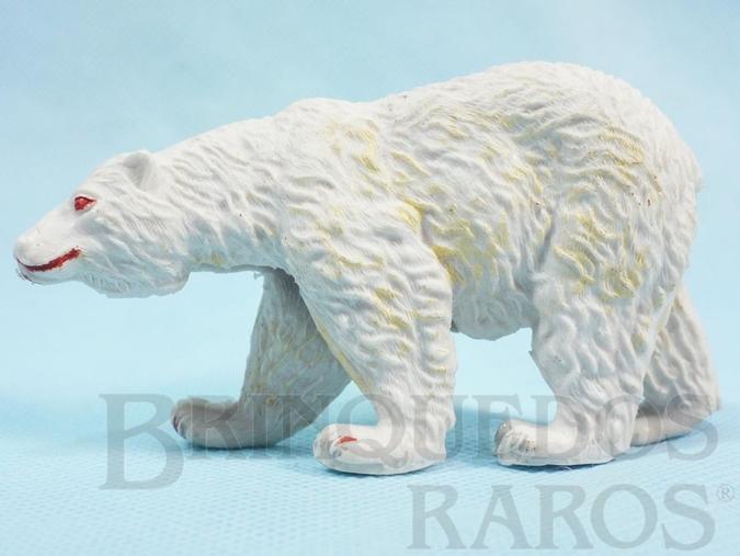 Brinquedo antigo Urso Branco Série Zoológico Década de 1960