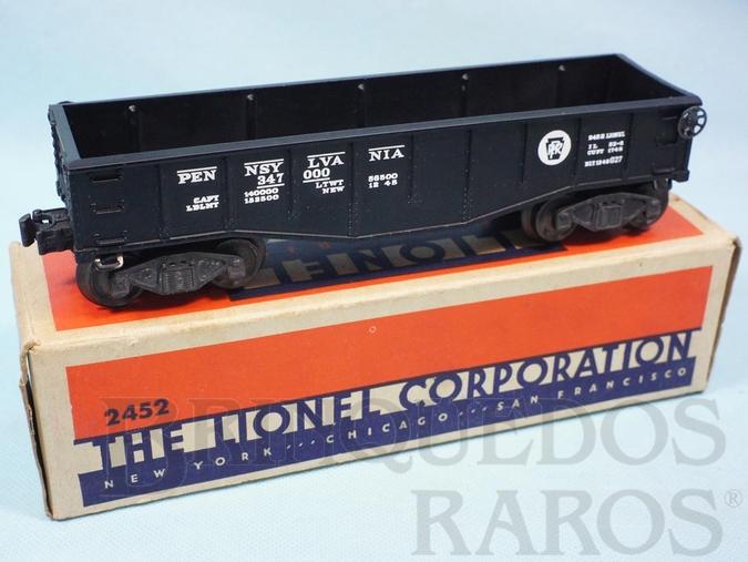 Brinquedo antigo Vagão 2452 Gondola Pennsylvania black Ano 1945 e 1946