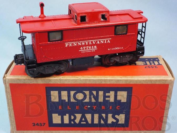 Brinquedo antigo Vagão 2457 Lighted Caboose red Ano 1945 a 1947