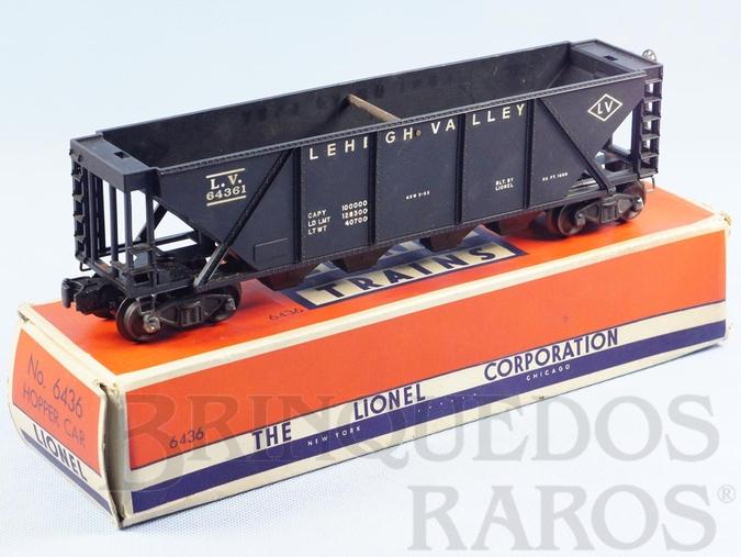 Brinquedo antigo Vagão 6436 Lehigh Valley Hopper Ano 1955