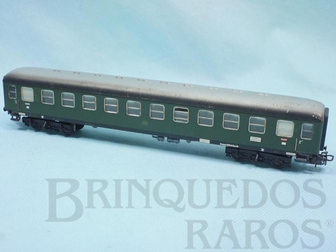 Brinquedo antigo Vagão Carro de Passageiros DB verde Década de 1960