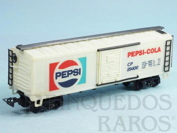 Brinquedo antigo Conjunto Santa Fé Vagão Furgão Pepsi Cola Década de 1980