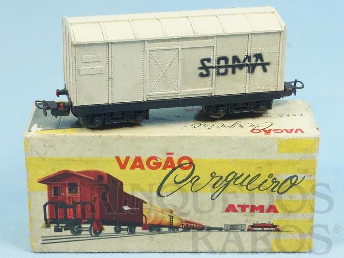 Brinquedo antigo Vagão Furgão Soma de dois trucks Corrente Alternada Atma Mirim Década de 1950