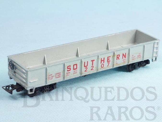 Brinquedo antigo Conjunto Santa Fé Vagão Gôndola Southern Pacific Década de 1980