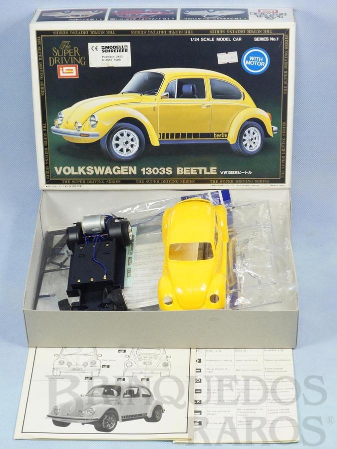 Brinquedo antigo Volkswagen 1303S Beetle motorizado 3 velocidades Série Super Driving Década de 1980