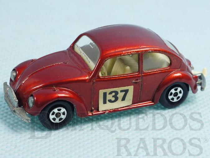 Brinquedo antigo Volkswagen 1500 Sedan Superfast Transitional Weels vermelho metálico Falta o adesivo no para choque