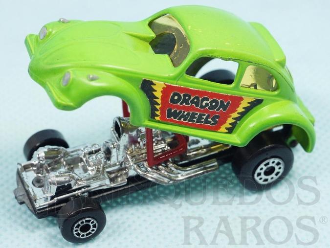 Brinquedo antigo Volkswagen Dragon Wheels Superfast verde