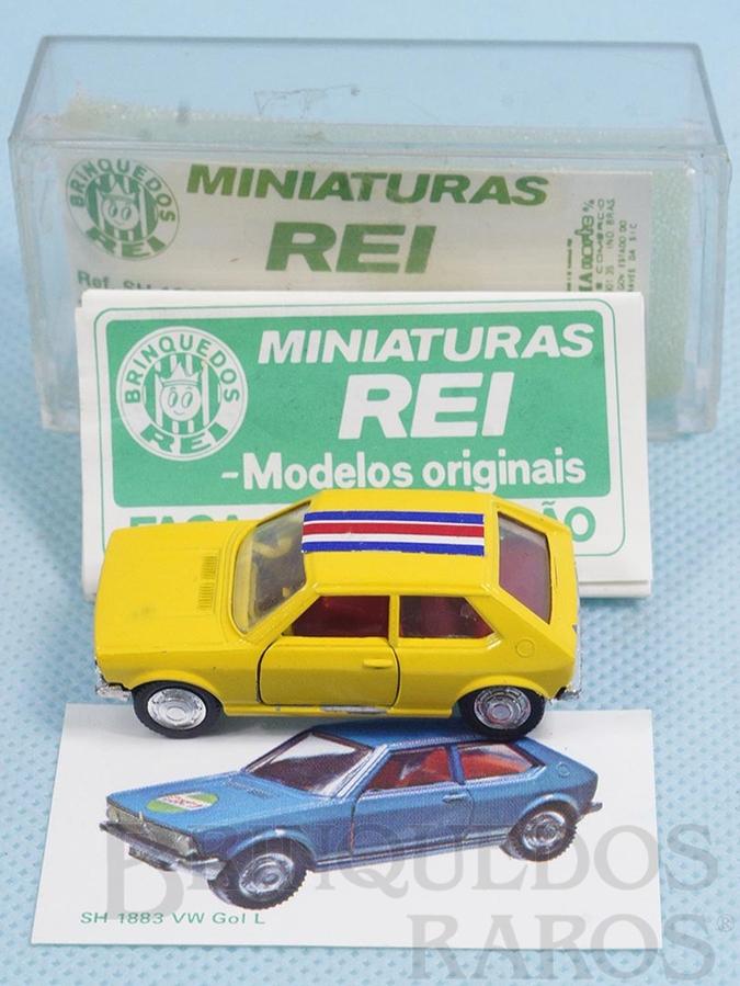 Brinquedo antigo Volkswagen Gol L Brasilianische Schuco Rei completo com Catálogo e Cromo