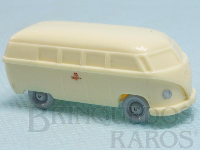 Brinquedo antigo Volkswagen Kombi Ambulância Janelas Sólidas Década de 1950
