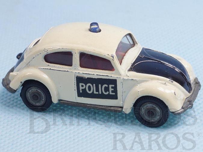 Brinquedo antigo Volkswagen Sedan Police Husky Década de 1970